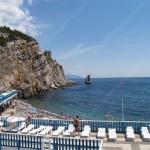 пляж и набережная санатория